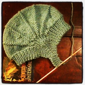 Aviatrix baby hat by Justine Turner