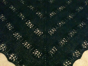 p[hoto of blue lace shawl