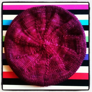 photo of knitted woollen beret